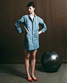 Denim Coverall Dress