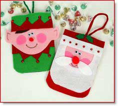 No-sew holiday purses; Santa & elf purse tutorial and pattern