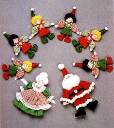 SANTA, MRS. CLAUS & ELF DOLLS
