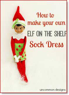 Elf on the Shelf Dress… Made from a Sock