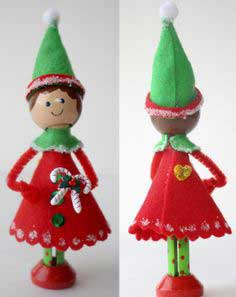 genevievesanta's tiniest elf tutorial{from the craft place}