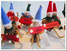 DIY {Christmas Pinecone Elves}