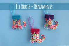 Elf Boots – Felt Christmas Ornaments