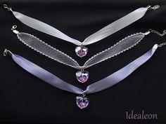 Crystal Heart Lace Chokers