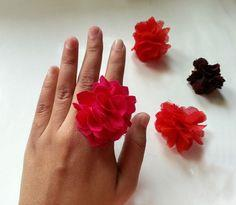 Cute Fabric Flower Ring