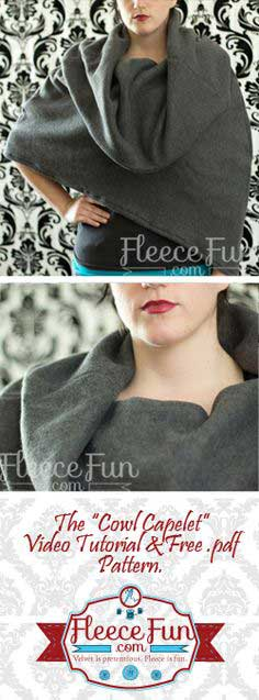Cowl Capelet Free Pattern
