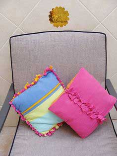 Bow-Ties Pillow Cover Tutorial