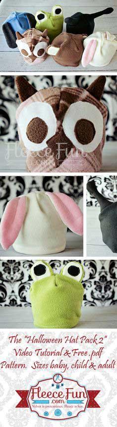 4f0e0385625 Free Fleece Hat Pattern – Halloween Hat Pack 2