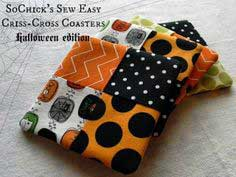 Sew-Easy Criss-Cross Coaster Tutorial {Halloween Edition}