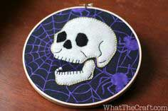 How to Make Halloween Hoop Art – Hand Embroidery and Applique Tutorial