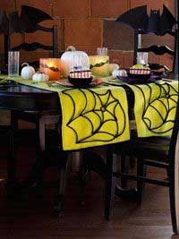 Spiderweb Table Runner for Halloween