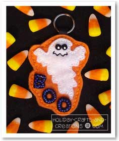 Halloween Sewing Patterns: Ghost Keychain