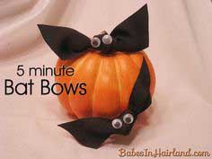 Bat Bows for Halloween