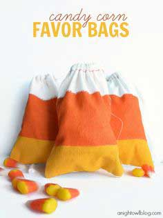 (20 crafty days of halloween) candy corn favor bags