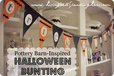 pottery barn-inspired no-sew halloween bunting {DiY}