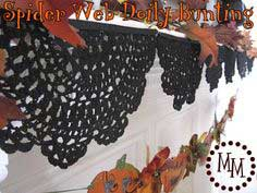 Spider Web Doily Bunting