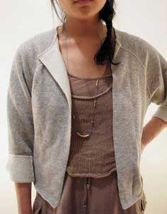 DIY SWEATSHIRT CARDIGAN