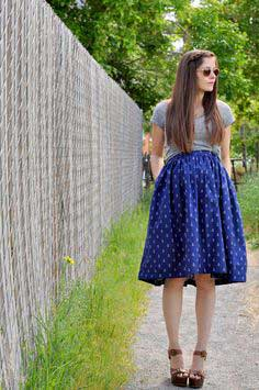 Very gathered A-line maternity skirt