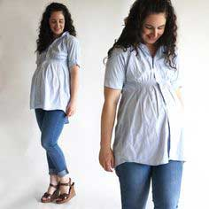 Shirred Maternity Tunic top
