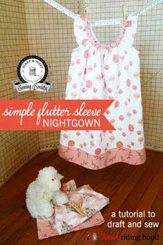 5839175506 Warp   Weft Sewing Society  Storybook – Flutter Sleeve Nightgown  a  tutorial to draft