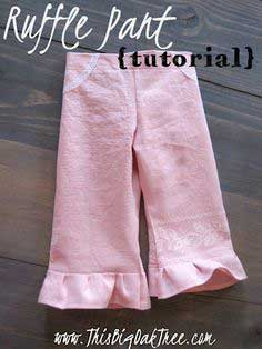 Embroidered Ruffle Pant {tutorial} & IKEA Hack!