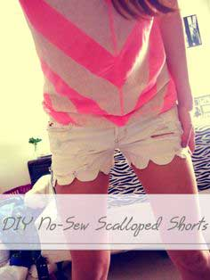DIY NO-SEW SCALLOPED-EDGE SHORTS (FIRST POST)