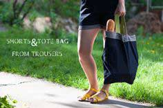 Shorts & Tote Bag from Trousers