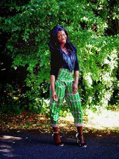 How to DIY Fashion Peg Leg Chino High-Waisted Trousers