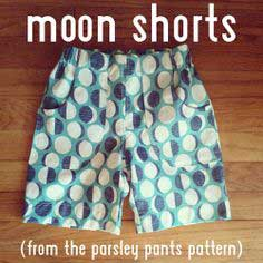 How to make shorts from a pants pattern