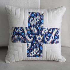 + + PLUS SIGN QUILT SQUARE THROW PILLOW + +