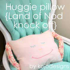 huggie pillow tutorial (land of nod knock off)