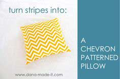 TUTORIAL: Chevron Patterned Pillow