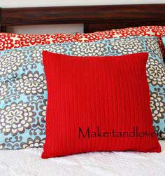 Decorate My Home, Part 5 – Re-purposed Sweater Pillow