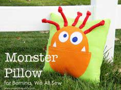 Friendly Monster Pillow (pattern pieces included)