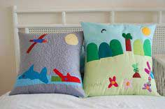 Sewing with Kids ~ Pillow + Cushion Design