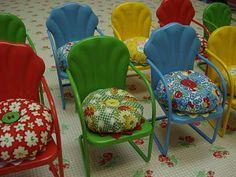 Pincushion Tutorial….garden chair