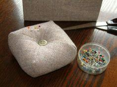 SewUseful, easy and practical a pin cushion made using just 1 square of fabric