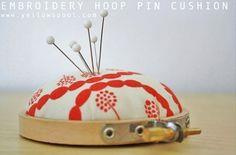 Embroidery Hoop Pin Cushion Tutorial