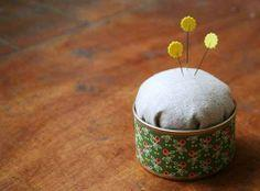 DIY WEDNESDAYS: TIN CAN PINCUSHION