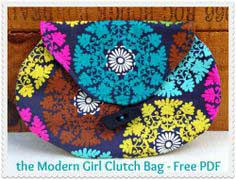 The Beginner's Modern Girl Clutch Bag – Free PDF Sewing Pattern & Video Tutorial