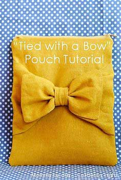 Bow Pouch Tutorial by Mommy by Day Crafter by Night