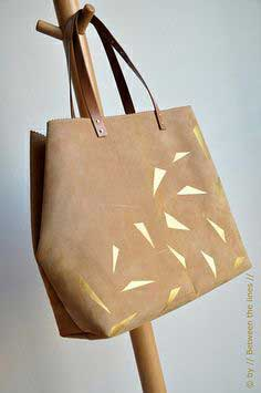 Leather and gold bag : :the DIY instructions