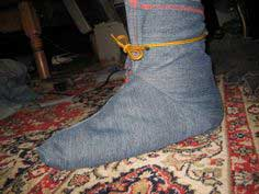 Make work slippers or ninja bootie booties or boot covers