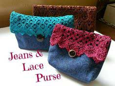 Jeans and Lace Purse