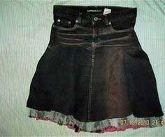Denim Petticoat skirt