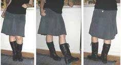 How to Recycle Jeans Into a Skirt - The Four-Panel Method