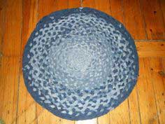 Braided Denim Rag Rug