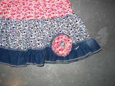How to ....make jeans into a skirt!