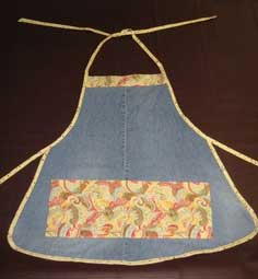 Recycled Jeans Make a Great Apron!