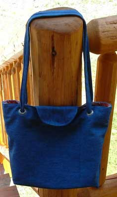 Denim Eyelet Tote Bag